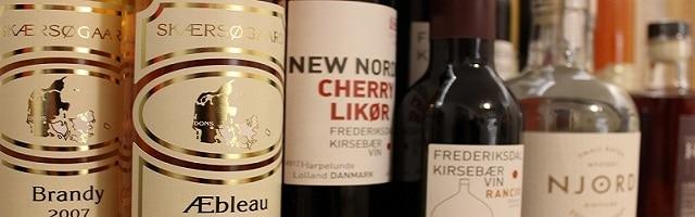 Dansk kirsebærvin fra Frederiksdal og hedvine fra Skærsøgaard