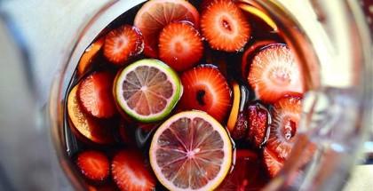 Sangria drink om sommeren