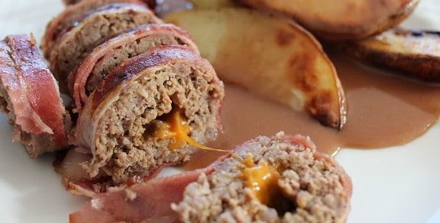 Roll Royale – Baconrulle med oksekød og ost