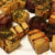 grillede løg og kartofler