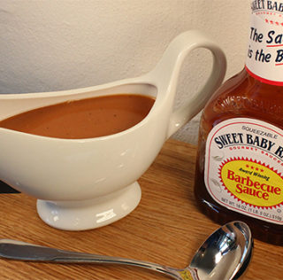 Whiskey & BBQ sauce på Sweet Baby Rays