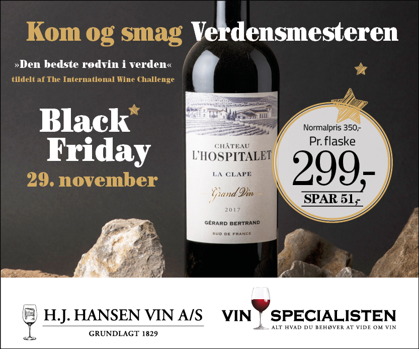 Black Friday vin udsalg
