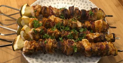 Grillspyd med kylling