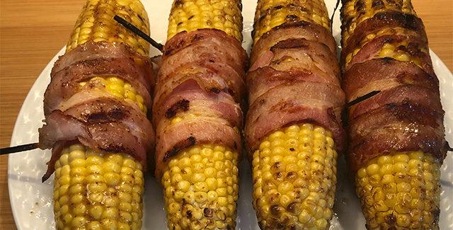 Baconmajs med honningglace