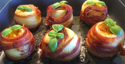 Bagekartofler med bacon