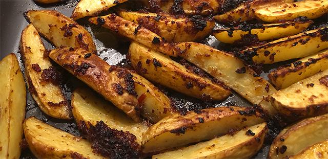 Baconkartofler – Lavet med baconmarmelade og chili