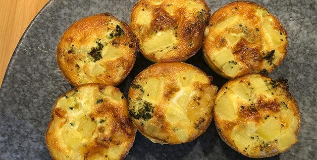 Kartoffel gratiner med broccoli og ost